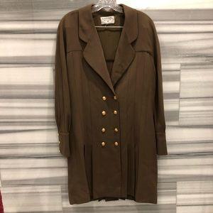 Chanel vintage olive wool dress